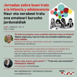 """Cartel de las """"Jornadas sobre buen trato a la infancia y adolescencia"""""""