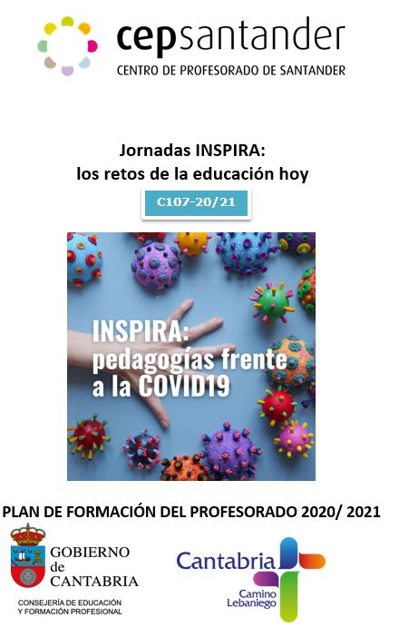 """Cartel de las """"Jornadas INSPIRA: los retos de la educación hoy"""" de CEP Cantabria"""